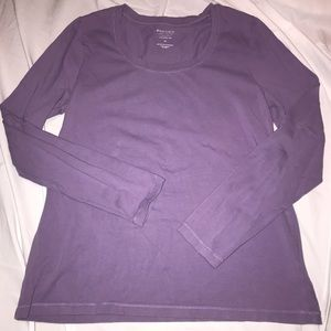 Sonoma Women's Purple Long Sleeve Tee Sz M
